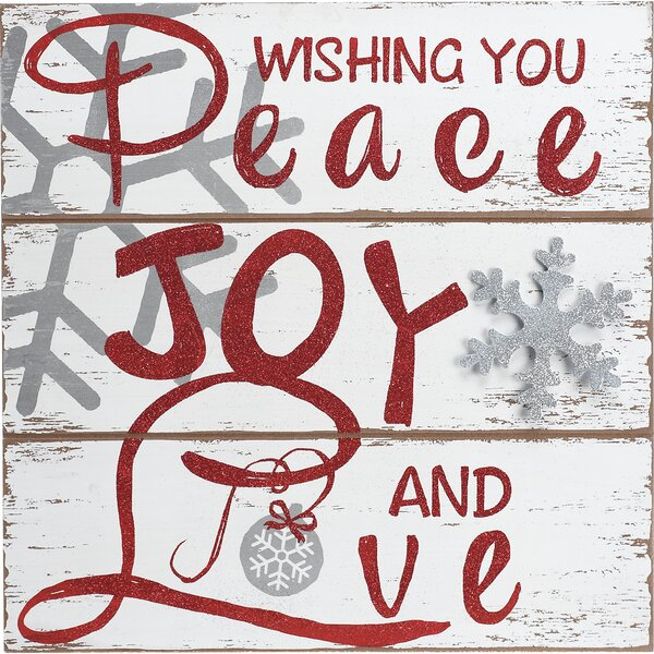 Wishing You Peace Wall Décor by The Holiday Aisle
