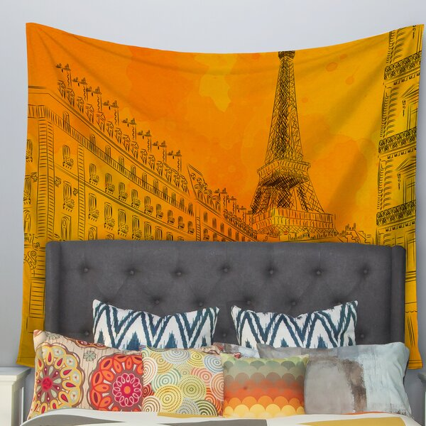 Parisian Sunsets by Fotios Pavlopoulos Wall Tapestry by East Urban Home