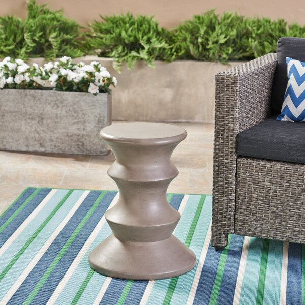 Stone/Concrete Side Table by Bungalow Rose