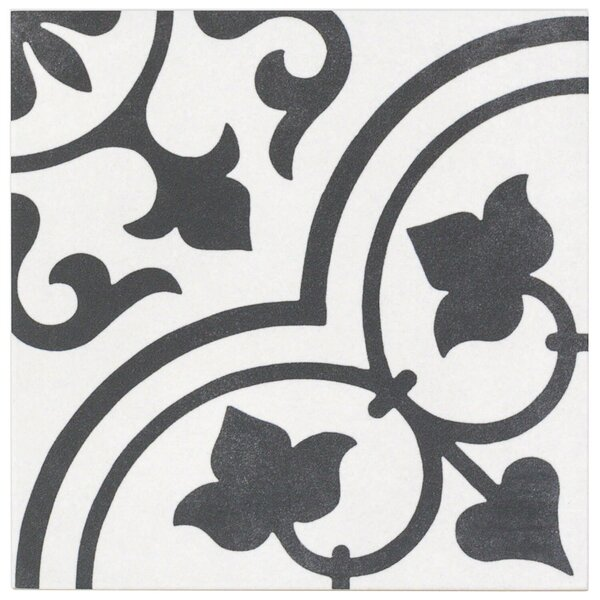 Sintra Ornate Matte 9 x 9 Porcelain Field Tile in Gray by Splashback Tile