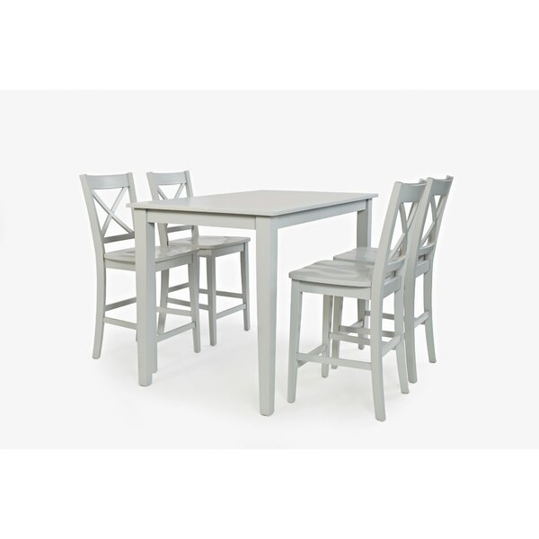 Keanu Wooden Counter Height Dining Table by Longshore Tides