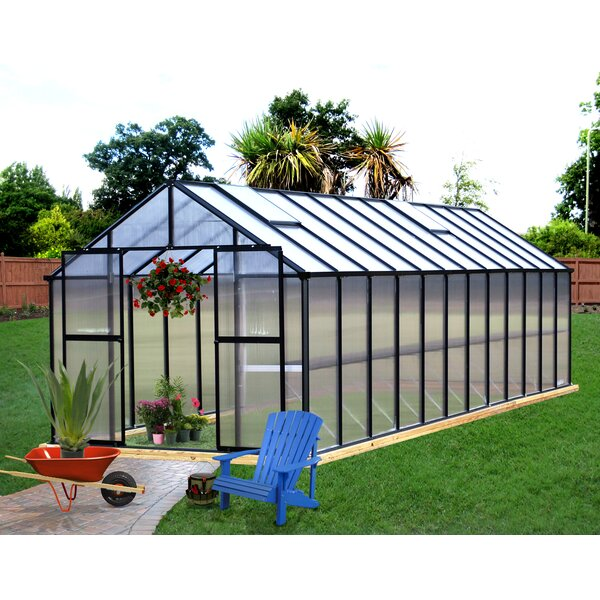 Monticello 8 Ft. W x 24 Ft. D Greenhouse by Riverstone Industries