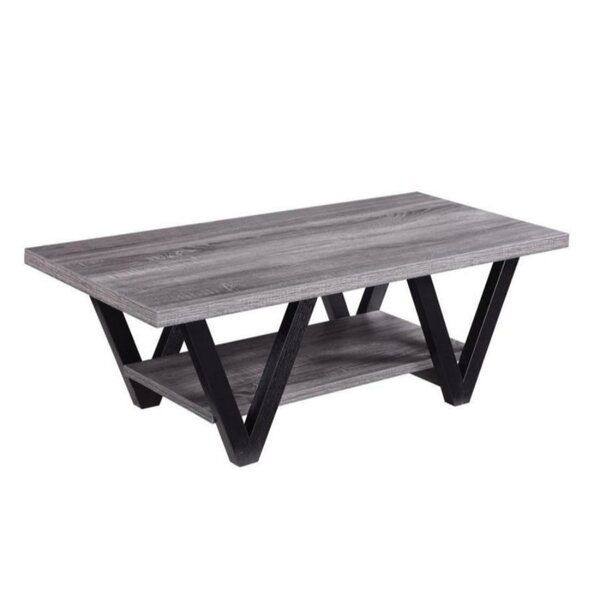Dabria Zigzag Contemporary Solid Wooden Coffee Table By Wrought Studio