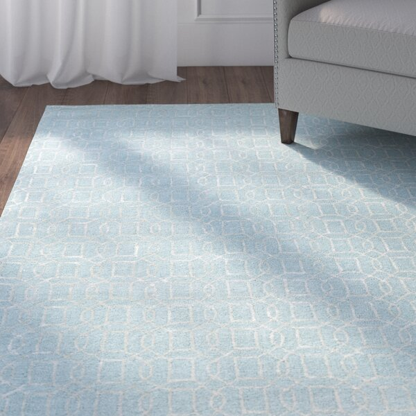 Birch Hill Hand-Tufted Blue/Tan Area Rug by Charlton Home