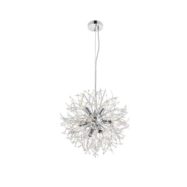 Rupesh 8 - Light Sputnik Sphere Chandelier by Orren Ellis Orren Ellis