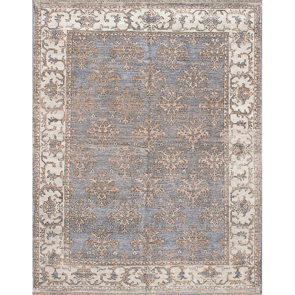 One-of-a-Kind Beth Hand-Knotted Dark Violet Area Rug by Darby Home Co