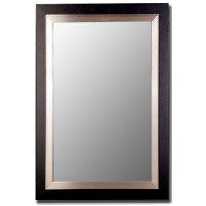 Brushed Nickel Wall Mirror metal brushed nickel mirror | wayfair
