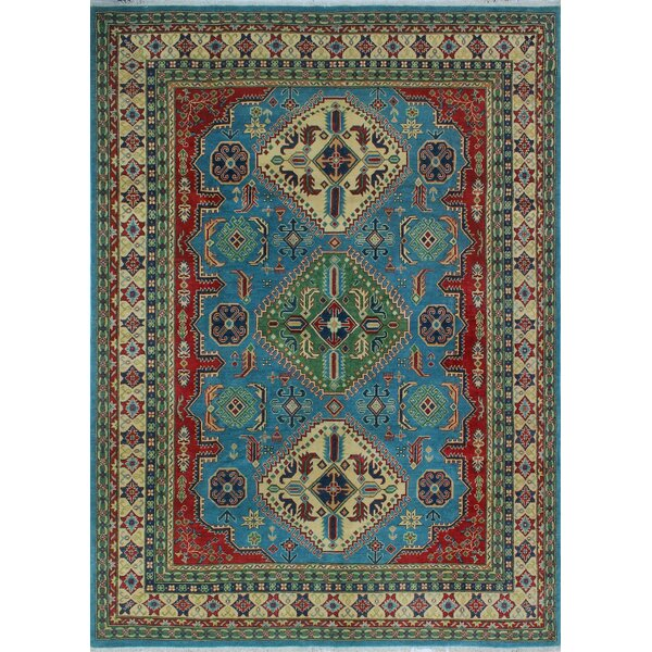 One-of-a-Kind Wendland Louis Lt. Hand-Knotted Blue Area Rug by Loon Peak