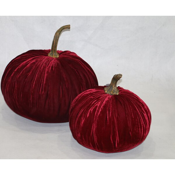 2 Piece Velvet Inflatable Pumpkin Set by RG Style