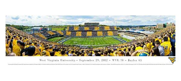 NCAA West Virginia University - by Christopher Gjevre Stripe Photographic Print by Blakeway Worldwide Panoramas, Inc