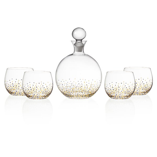 Lace 5 Piece Decanter Set by Fitz and Floyd