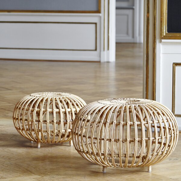 Franco Albini Indoor Ottoman by Sika Design