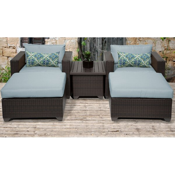 Medley 5 Piece Conversation Set with Cushions by Rosecliff Heights