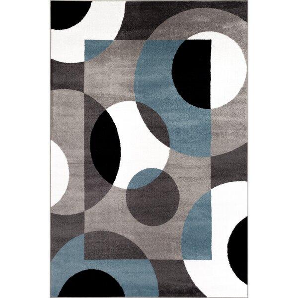 Allison Blue/Gray Area Rug by Ebern Designs