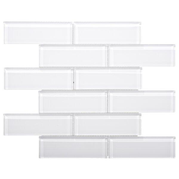 Premium Series 2 x 6 Glass Subway Tile in White by WS Tiles