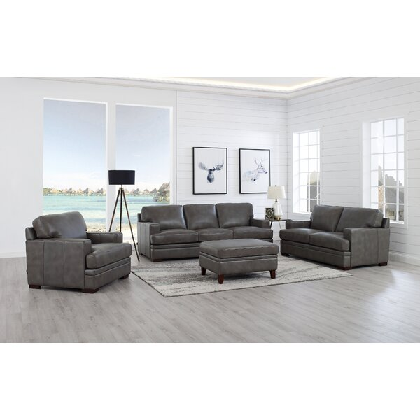 Werner 4 Piece Leather Living Room Set by 17 Stories
