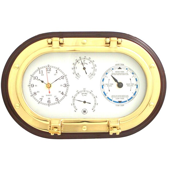 12 Porthole Wall Clock,Tide Clock,Thermometer, and Hygrometer by Bey-Berk