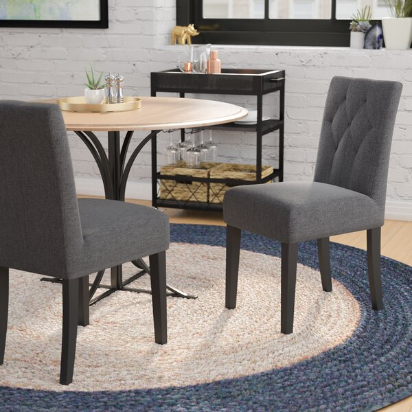 Wolfe Upholstered Dining Side Chair (Set of 2) by Wrought Studio