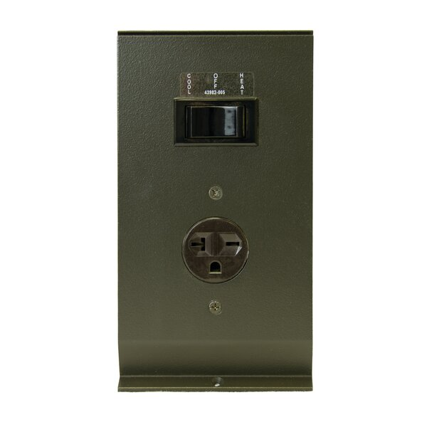 Hydronic / Architectural Style Baseboard Air Conditioning Receptacle by TPI