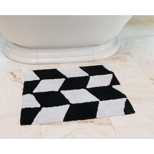 Herringbone Cotton Bath Mat by Linen Tablecloth