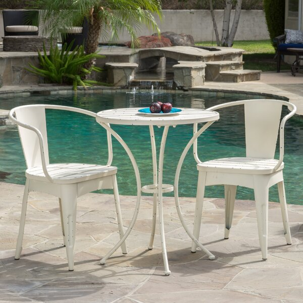Biles 3 Piece Bistro Dining Set by Mercury Row