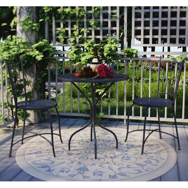 Bluff Canyon 3 Piece French Café Bistro Set by Three Posts