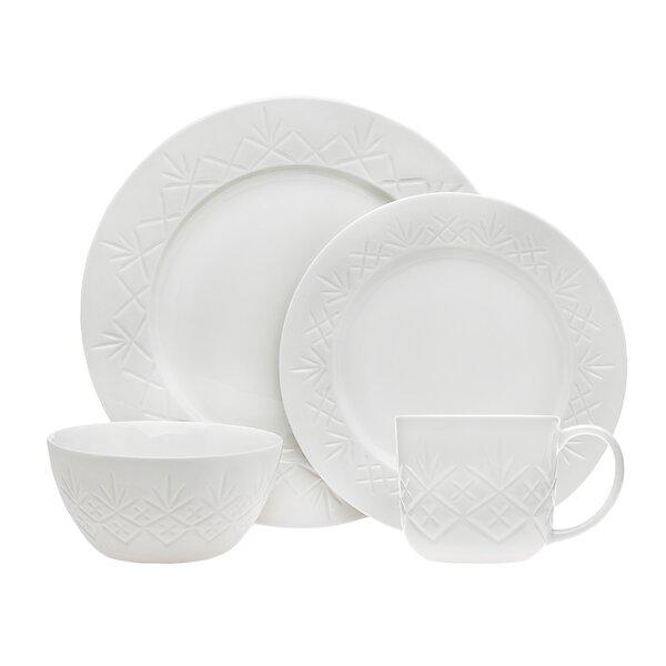 Dublin 16 Piece Dinnerware Set, Service for 4 by Godinger Silver Art Co