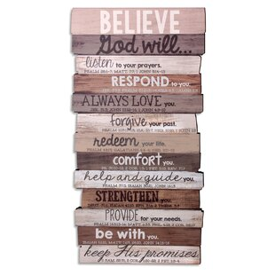Believe Stacked Wood Word Study Wall Décor