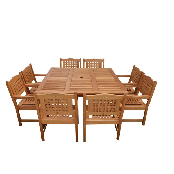 Mcquaig International Home Outdoor 9 Piece Dining Set by Highland Dunes