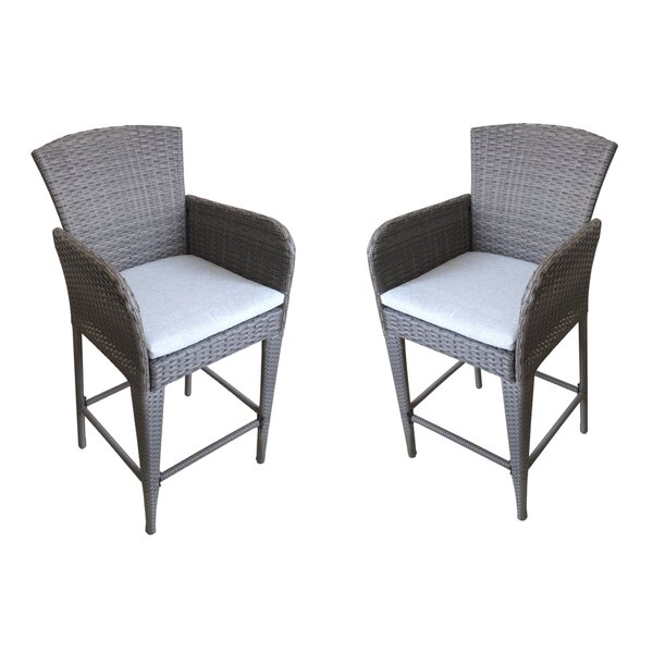 Patio Dining Chair with Cushion (Set of 2) by Attraction Design Home