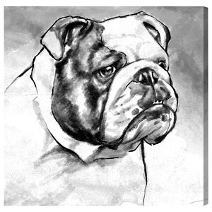 English Bulldog Painting Print on Wrapped Canvas by Brayden Studio