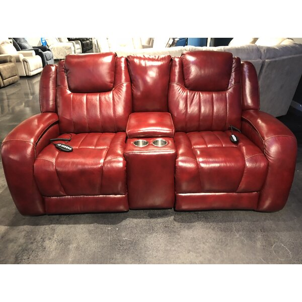 Modern Beautiful Top Shelf Leather Reclining Loveseat by Southern Motion by Southern Motion