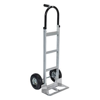 Magliner HRK55AUA43 Self-Stabilizing Hand Truck Vertical Loop Handle 500 lb Capacity Inc. 4-Ply Pneumatic Wheels Curved Back Frame