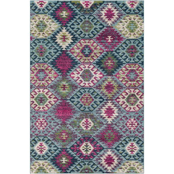 Andersonville Southwestern Blue/Pink Area Rug by Bungalow Rose