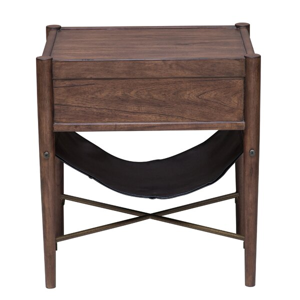 Mervela Modern Retro Style End Table by Union Rustic