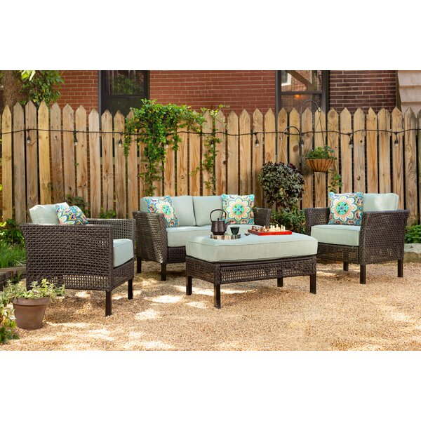 Joshua 4 Piece Sofa Set with Cushions by Bungalow Rose