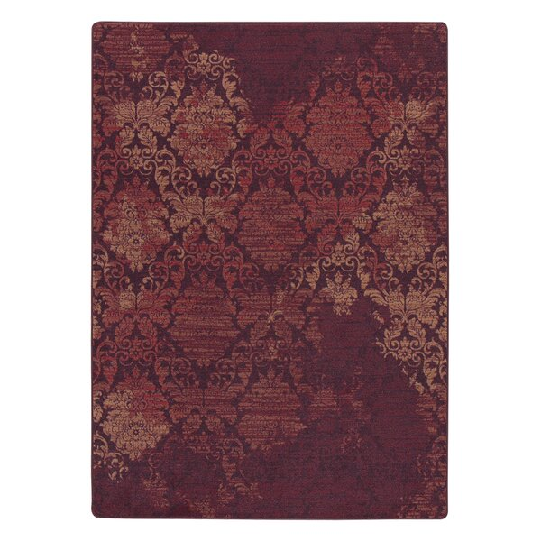 Tate Spiced Red Area Rug by Bungalow Rose