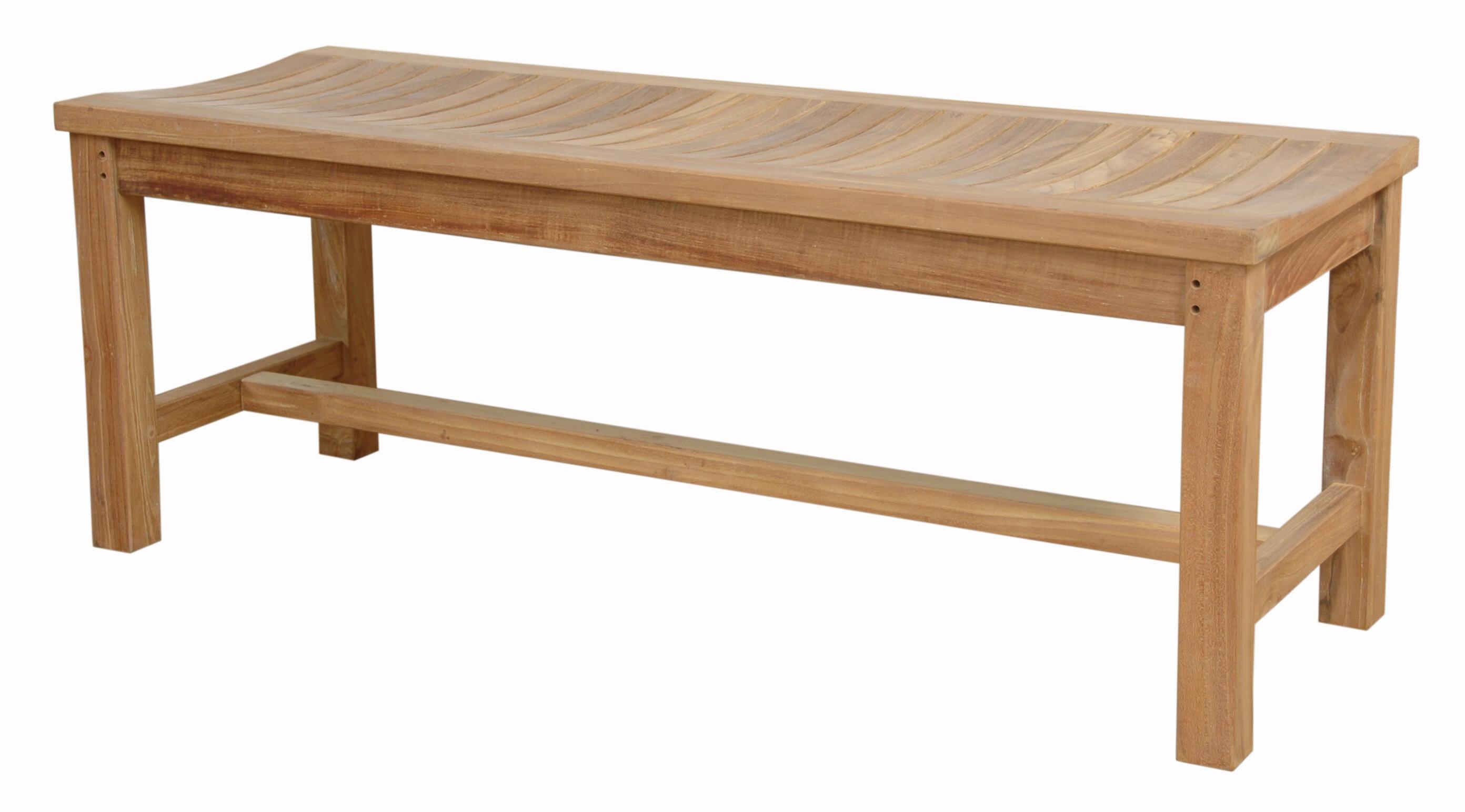 Marvelous Madison Backless Teak Picnic Bench Lamtechconsult Wood Chair Design Ideas Lamtechconsultcom
