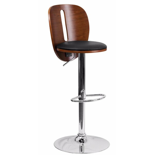 Champion Adjustable Height Swivel Bar Stool by Wrought Studio