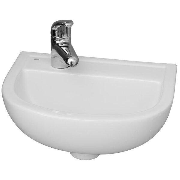 Vitreous China 15 Wall Mount Bathroom Sink with Overflow by Barclay