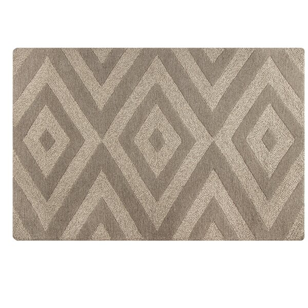 Toulon Handmade Brown Area Rug by Ivy Bronx