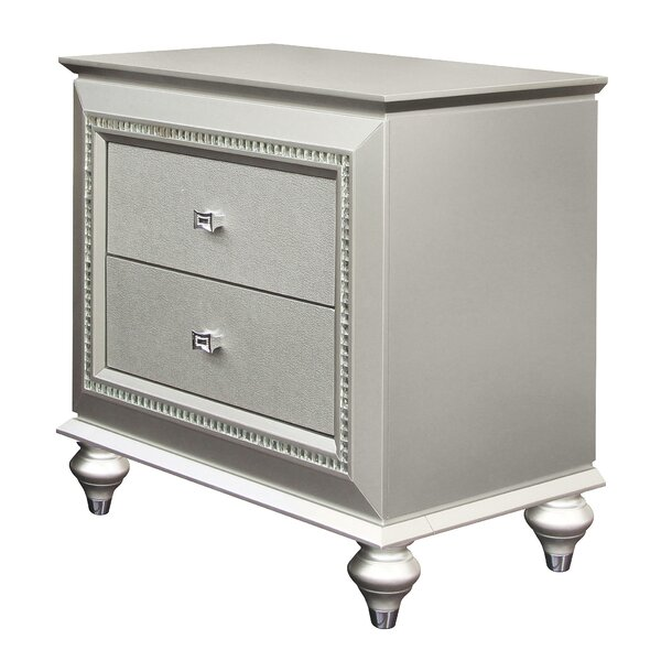 Delmy Spacious 2 Drawer Bachelors Chest by Rosdorf Park