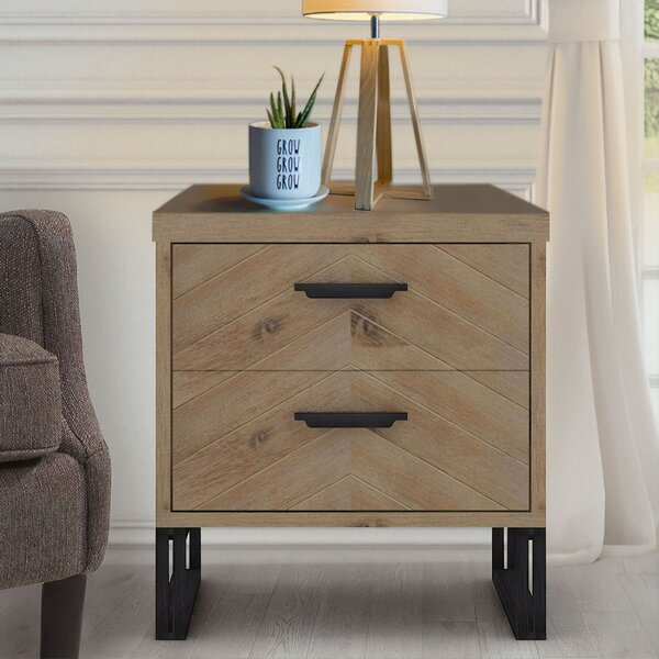 Crossville 2 Drawer Nightstand by Foundry Select