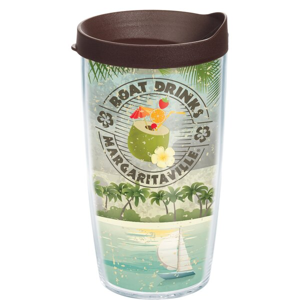Margaritaville Boat Drinks Plastic Travel Tumbler by Tervis Tumbler
