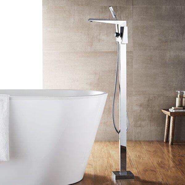 Cypress Single Handle Floor Mount Freestanding Tub Filler with Hand Shower by Vinnova Vinnova