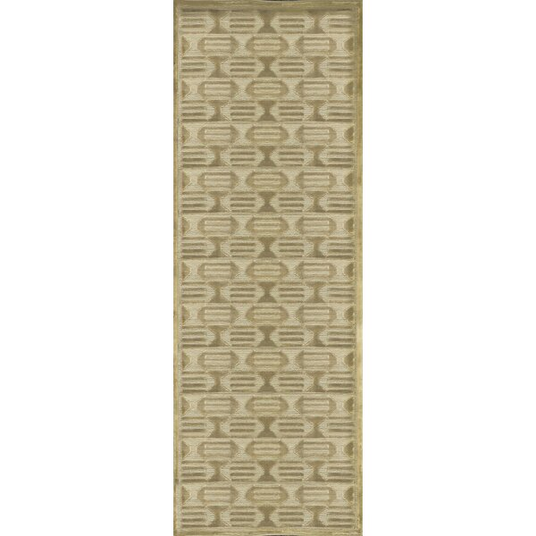 One-of-a-Kind Hand-Knotted Wool Beige Indoor Area Rug by Bokara Rug Co., Inc.