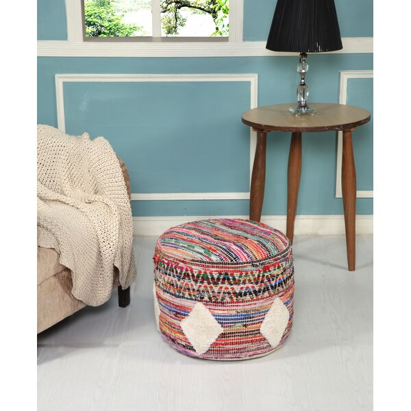 Lach Boho Geometric Pouf by Bungalow Rose