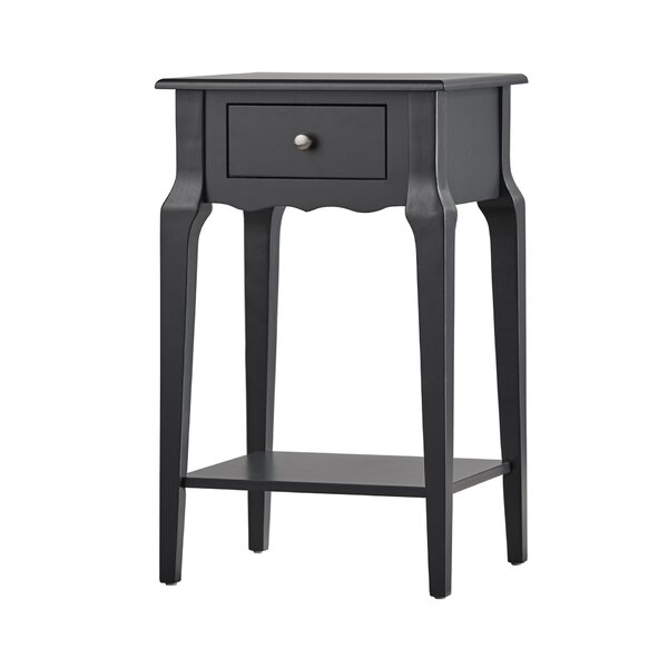 Hague End Table With Storage  by Three Posts