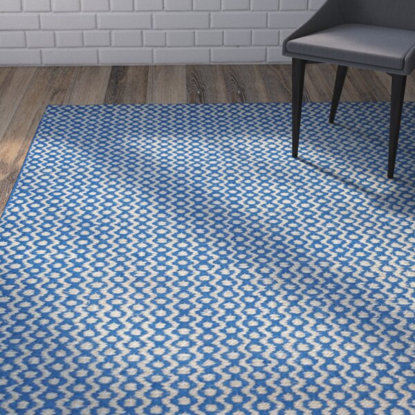Russo Hand-Loomed Royal Blue Area Rug by Wrought Studio