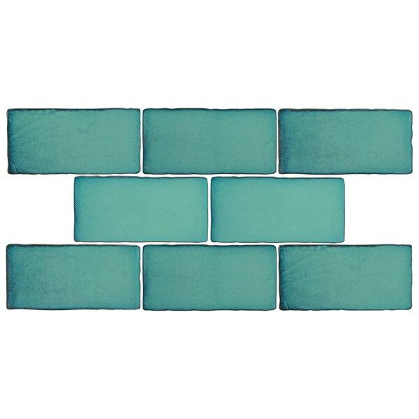 Antiqua 3 x 6 Ceramic Tile in Special Lava Verde by EliteTile